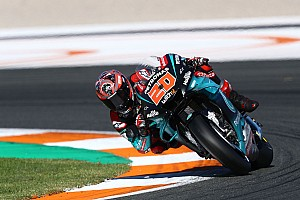Quartararo leads Yamaha 1-2-3 in test, as Marquez brothers crash