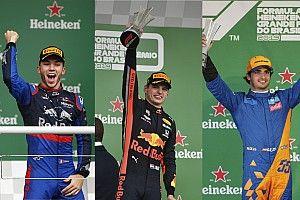 Verstappen, Gasly, Sainz: El podio más joven de la historia de la F1