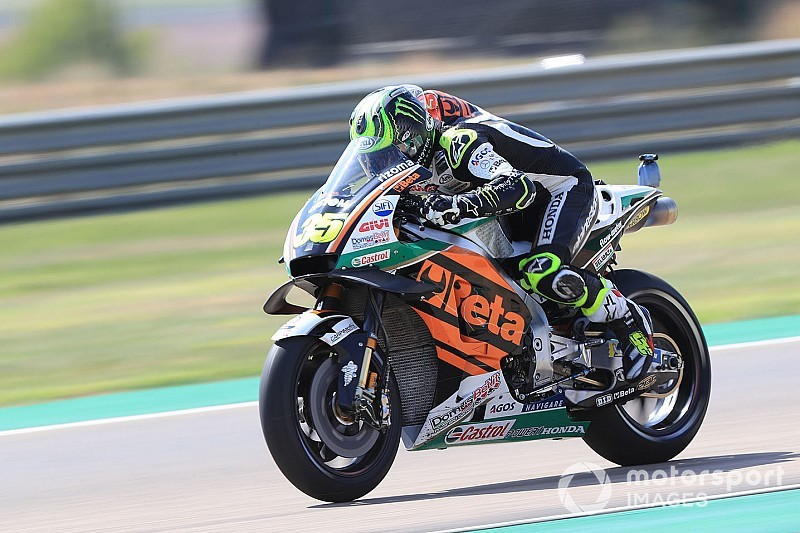MotoGP Aragon 3. antrenman: Crutchlow lider, Rossi kaza yaptı