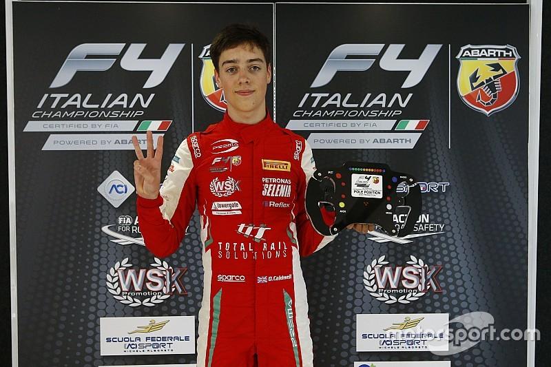 Olli Caldwell conquista le pole per le tre gare di Vallelunga