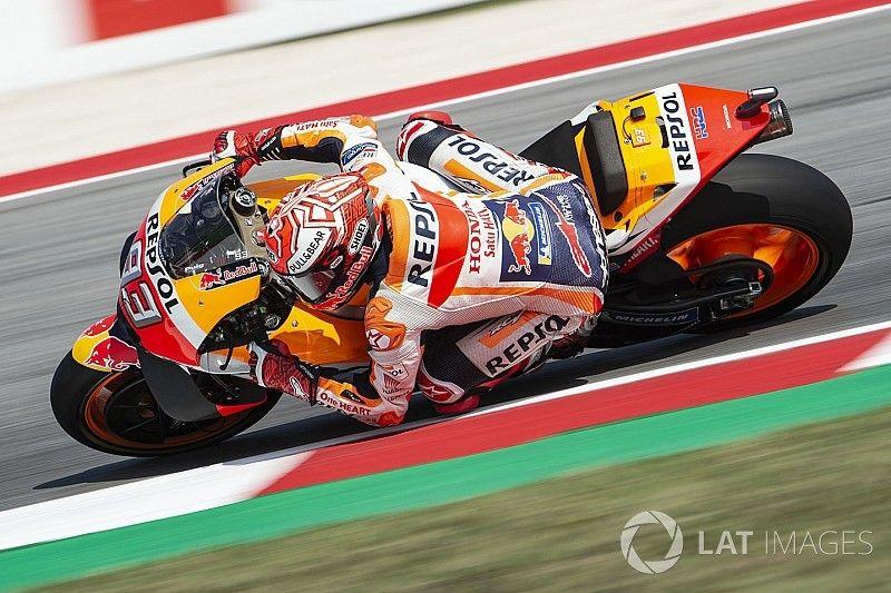 Marquez voor de Ducati's in warm-up San Marino GP