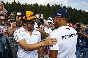 ألونسو يختار هاميلتون ضمن أفضل خمسة سائقين بالفورمولا واحد