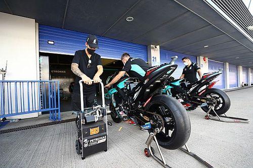 Michelin a recommandé de roder les pneus avant la course