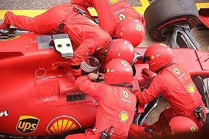 Trompo, motor y cinturones desabrochados: la odisea de Leclerc