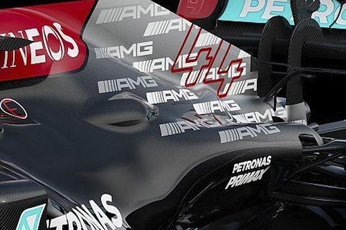 Todas las fotos del temible Mercedes W12, nuevo F1 de Hamilton
