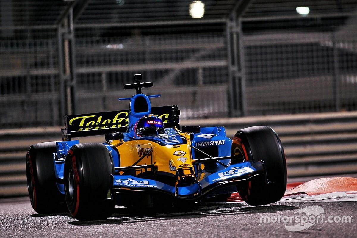 Alonso brilló con el Renault R25 en la noche de Abu Dhabi