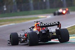 """F1: Verstappen celebra vitória em GP """"desafiador"""" em Ímola, com pista escorregadia"""
