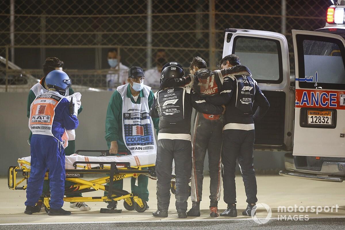 F1医疗车英雄讲述格罗斯让逃生故事