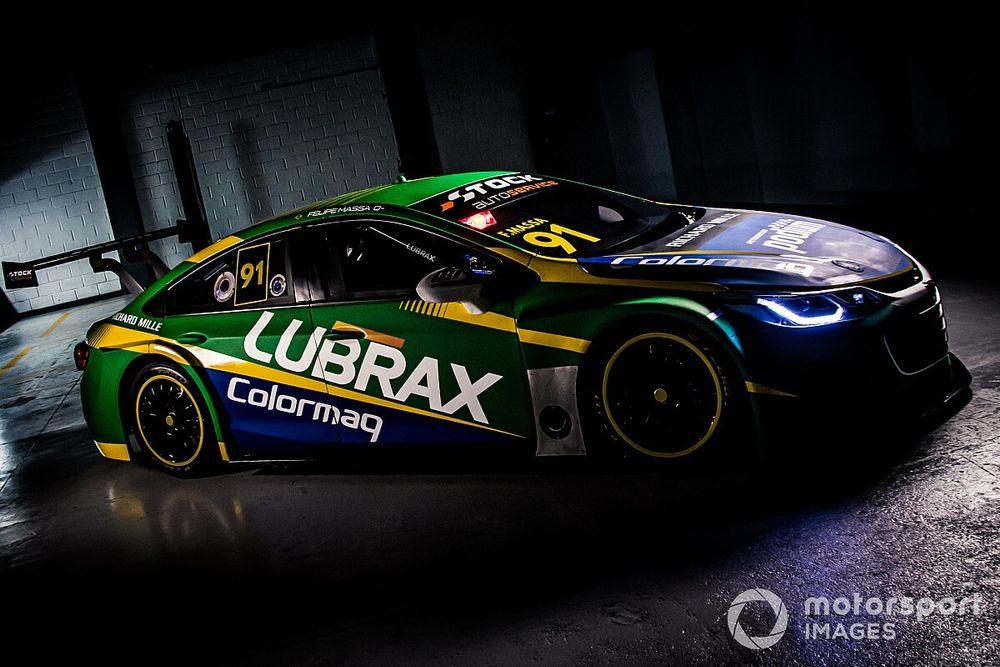 Massa terá carro verde, amarelo e azul para estreia na Stock Car; veja fotos