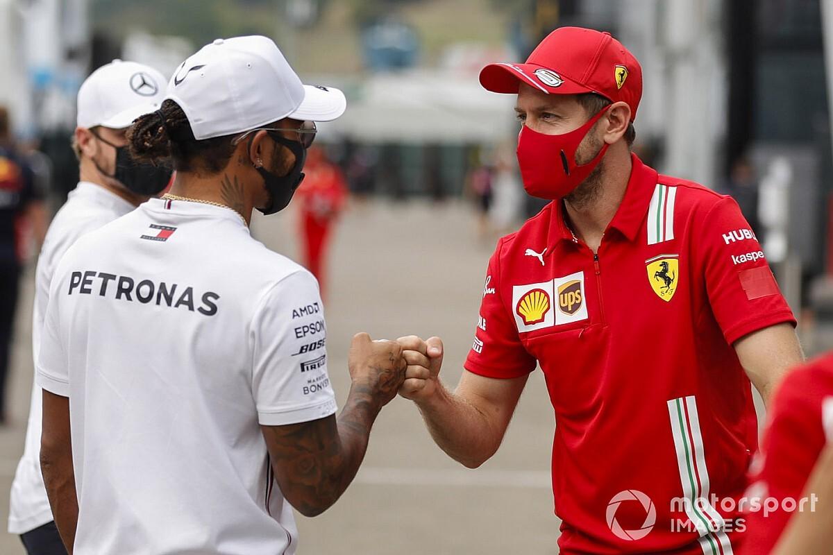 """F1: Hamilton reage à ida de Vettel para Racing Point: """"É a direção ideal"""""""