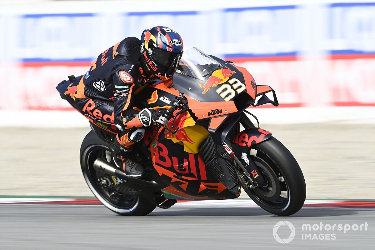 "KTM's Binder: Final Barcelona laps like ""riding in the rain"""