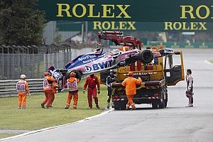 "Russell critical of ""stupid"" recovery truck use in Perez crash"