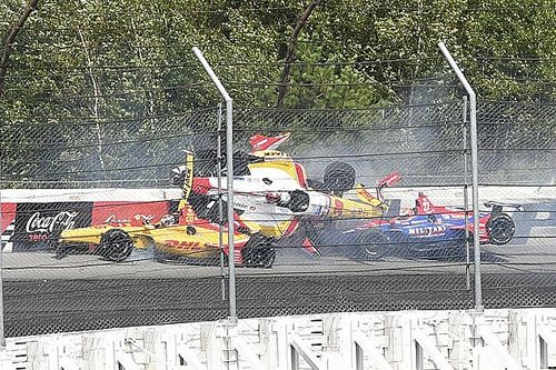 Rossi vs. Sato argument over Pocono crash continues