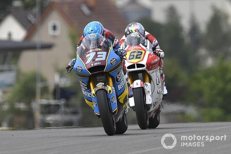 Moto2, Sachsenring: Alex Marquez si prende la pole davanti a Luca Marini