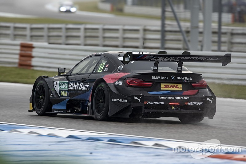 Hockenheim DTM: BMW's Spengler leads wet FP2