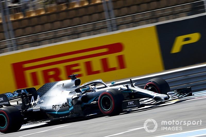F1: Hamilton lidera dobradinha da Mercedes em 1º treino na França