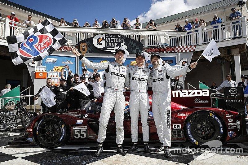 Mazda hace el 1-2 en Watkins Glen; Montoya sube al podio