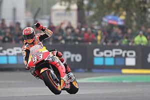 Le Mans MotoGP: Marquez wins after fighting off Ducatis