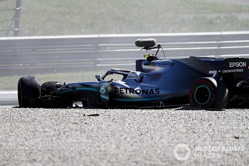 Képeken is Bottas nagy becsapódása a Mercedesszel a Red Bull Ringen