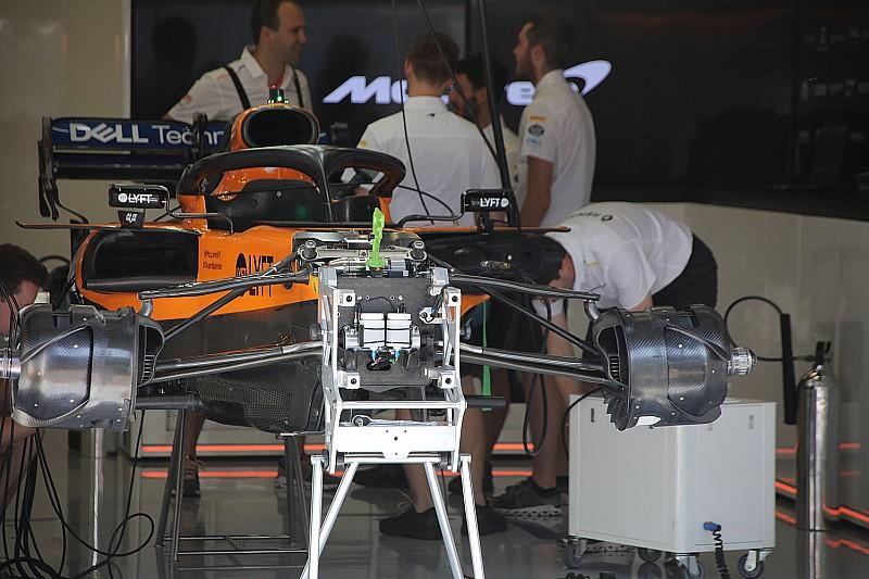 A McLaren egyelőre feladta a kisérletezést a dupla csapágybakkal