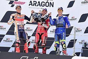Marquez ha donato il trofeo di Aragon alla famiglia di Millan