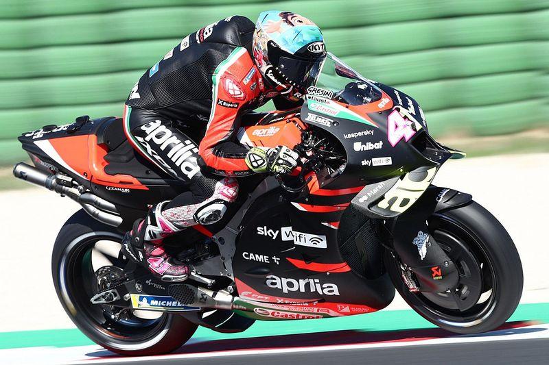 Misano MotoGP test: Aprilia's Espargaro heads final day from Bagnaia
