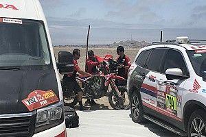 70 metros de cuerda para recuperar la moto de Barreda cinco días después