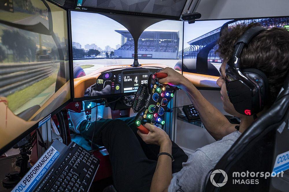 Norris explica por qué sufre más nervios en los Esports que en F1