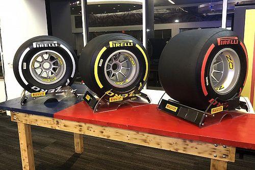 Pirelli 2019 con tre colori: hard bianco, media gialla, soft rossa