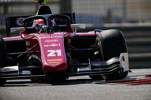 Deletraz lidera el jueves de la F2 en Abu Dhabi, con Tatiana Calderón en el sexto lugar