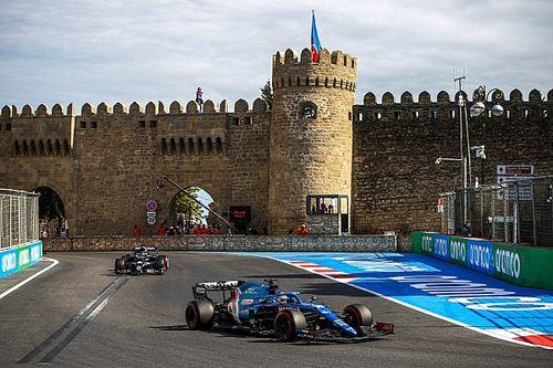 Las dos últimas vueltas de ensueño de Alonso en Bakú