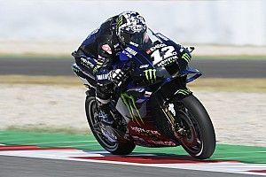 Viñales lidera un 1-2 de Yamaha en el test de Barcelona