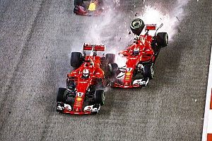 Flashback: Vettel's disastrous Singapore 2017 start shunt