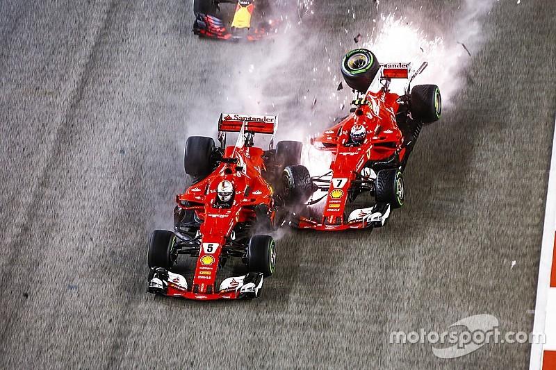 Flashback : le désastreux crash de Vettel à Singapour en 2017