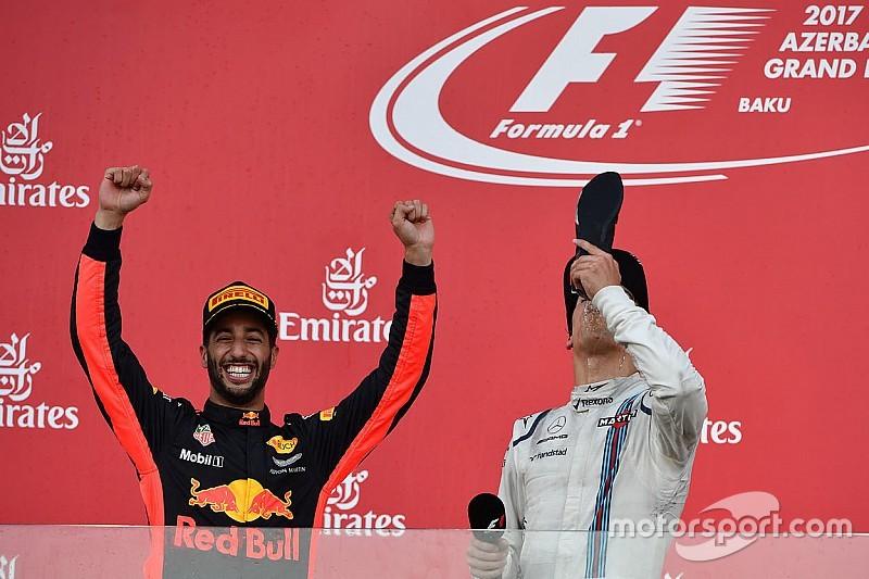 La bebida de los dioses: las siete víctimas de la bota de Daniel Ricciardo