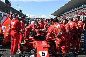 Ferrari kehabisan waktu untuk ganti busi mobil Vettel