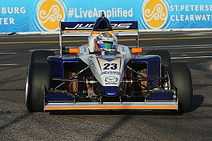 Pro Mazda Race report Indy GP Pro Mazda: Franzoni stumbles, then scores first win