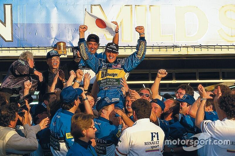 GALERÍA: Schumacher se convierte en el más joven bicampeón en 1995