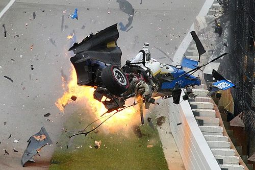 Видео: крупная авария Диксона, из-за которой остановили Indy 500