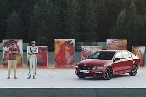 Automotive Breaking news WRC2 champion creates abstract art with Skoda Octavia RS 245