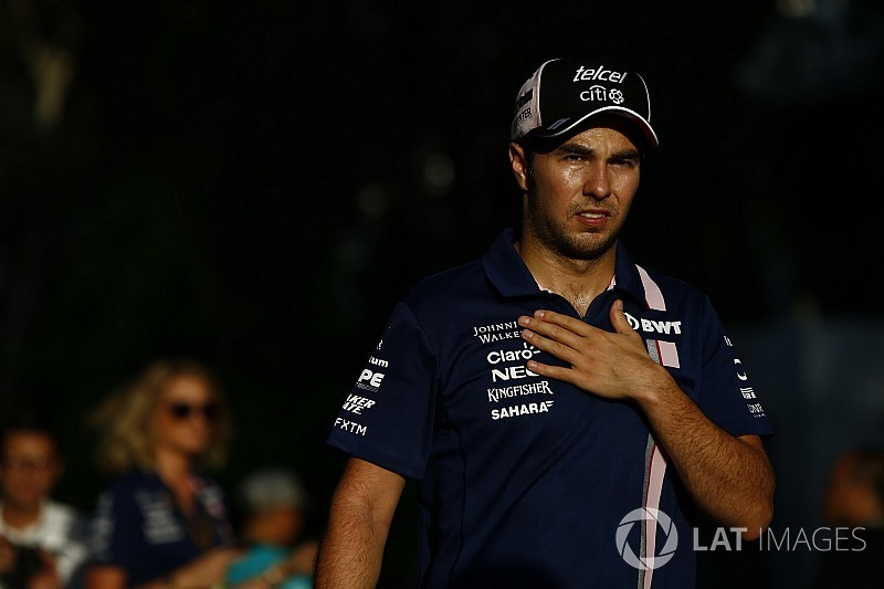 Sick Perez on intravenous drip before Malaysian GP