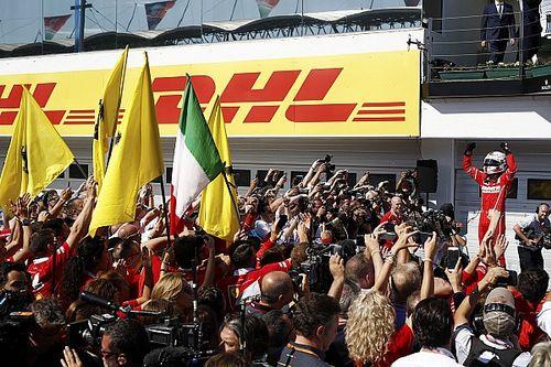 Tensão entre colegas e vitória de Vettel; as imagens do dia