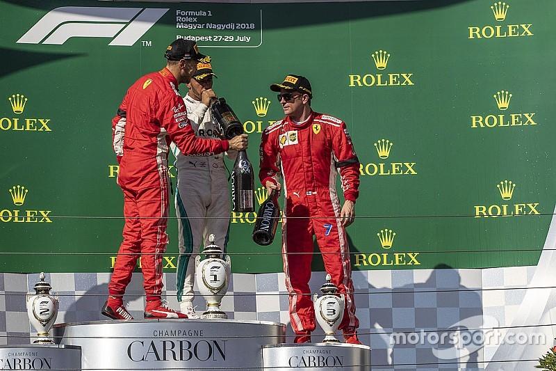 Räikkönen tisztában van vele, hogy egy ponton be kell állnia Vettel mögé