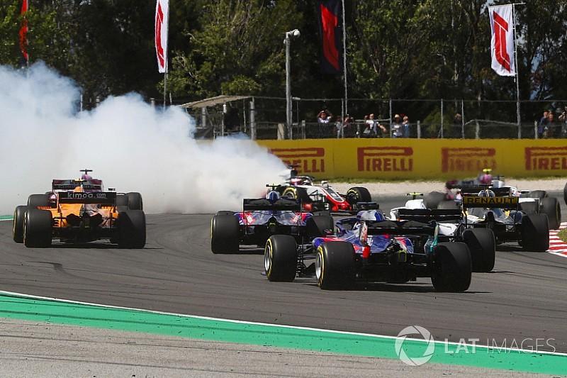Strafe gegen Romain Grosjean: Warum er nicht vom Gas ging