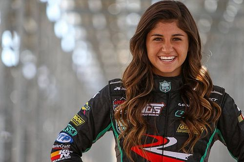Hailie Deegan makes late pass to win Las Vegas K&N West opener