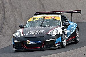 Scott Hargrove fends off Daniel Morad in Watkins Glen
