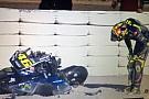 Pré-temporada começa com queda espetacular de Rossi