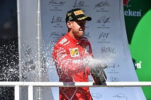 """Vettel dice que la victoria fue """"un gran alivio"""""""