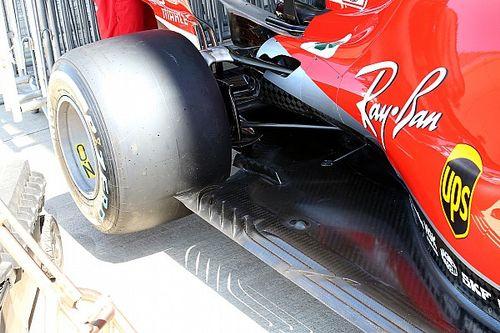 Ferrari: due soffiaggi più grandi anche nei profili delle brake duct posteriori