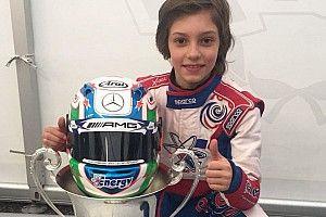 Antonelli nei colori Mercedes AMG ha vinto la Winter Cup